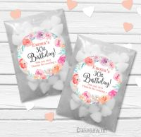 Emma Florals Personalised Birthday Party Glassine Paper Favour Bags Kits x12