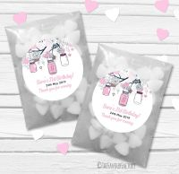 Mason Jars Personalised Birthday Party Glassine Paper Favour Bags Kits x12
