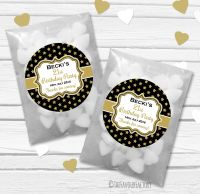 Stars Personalised Birthday Party Glassine Paper Favour Bags Kits x12