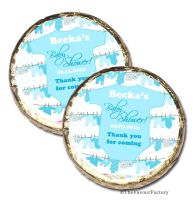 Babygro Blue Personalised Baby Shower Party Chocolate Favours x 10 pieces