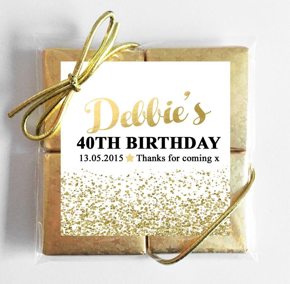 Birthday Party Chocolate Quads