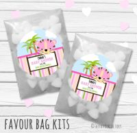 Cute Tiger Personalised Baby Shower Party Favours Glassine Bags Kits x12