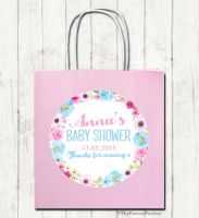 Anna Florals Personalised Baby Shower Paper Party Bags x1