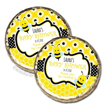 Bumble Bee Personalised Baby Shower Party Chocolate Favours x 10 pieces