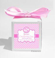 Booties Pink Personalised Christening Favour Box DIY KIT x1