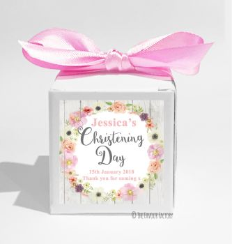 Jessica Florals Personalised Christening Favour Box DIY KIT x1