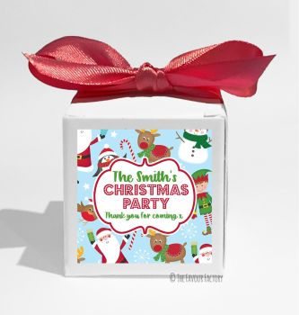 Santa's Friends Personalised Christmas Favour Boxes KITS x1