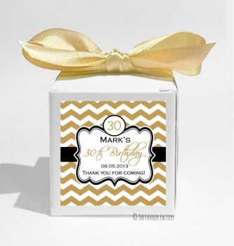 Chevron Age Personalised Birthday Party Favour Boxes KITS x1