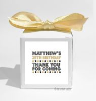 Dazzle Personalised Birthday Party Favour Boxes KITS x1