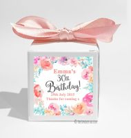 Emma Florals Personalised Birthday Party Favour Boxes KITS x1