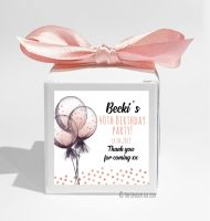 Glitter Confetti Balloons Personalised Birthday Party Favour Boxes KITS x1