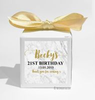 Marble Personalised Birthday Party Favour Boxes KITS x1