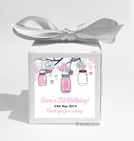 Mason Jars Personalised Birthday Party Favour Boxes KITS x1