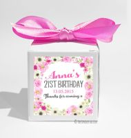 Anna Floral Wreath Personalised Birthday Party Favour Boxes KITS x1