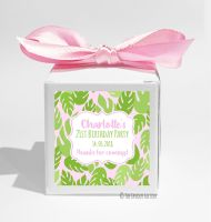 Palm Leaves Tropical Personalised Birthday Party Favour Boxes KITS x1