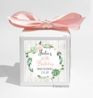 Succulents Florals Personalised Birthday Party Favour Boxes KITS x1