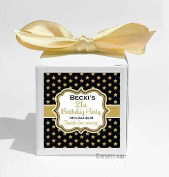 Stars Personalised Birthday Party Favour Boxes KITS x1