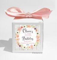 Jessica Florals Personalised Birthday Party Favour Boxes KITS x1