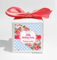 Cath Floral Polka Dots Personalised Birthday Party Favour Boxes KITS x1