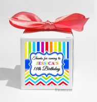 Rainbow Brights Personalised Birthday Party Favour Boxes KITS x1