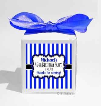 Stripes Personalised Birthday Party Favour Boxes KITS x1