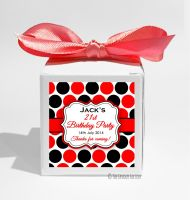 Polka Dots Personalised Birthday Party Favour Boxes KITS x1