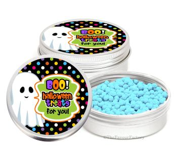 Boo Treats Personalised Halloween Party Favour Tins Keepsakes x1