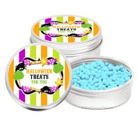 Candy Sweets Personalised Halloween Party Favour Tins Keepsakes x1