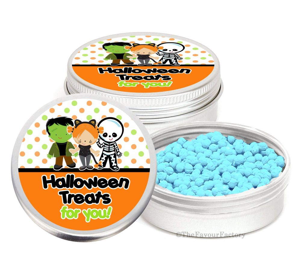 Dress Up Kids Personalised Halloween Party Favour Tins Keepsakes x1