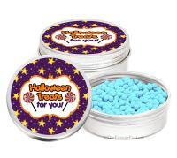 Stars Personalised Halloween Party Favour Tins Keepsakes x1