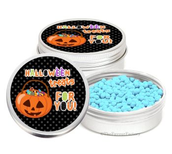 Spooky Personalised Halloween Party Favour Tins Keepsakes x1