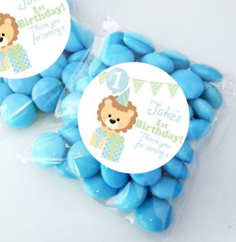Cute Lion Personalised Birthday Party Sweet Bags Party Bag Fillers x12