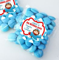 Little Pilot Flying Personalised Birthday Party Sweet Bags Party Bag Fillers x12