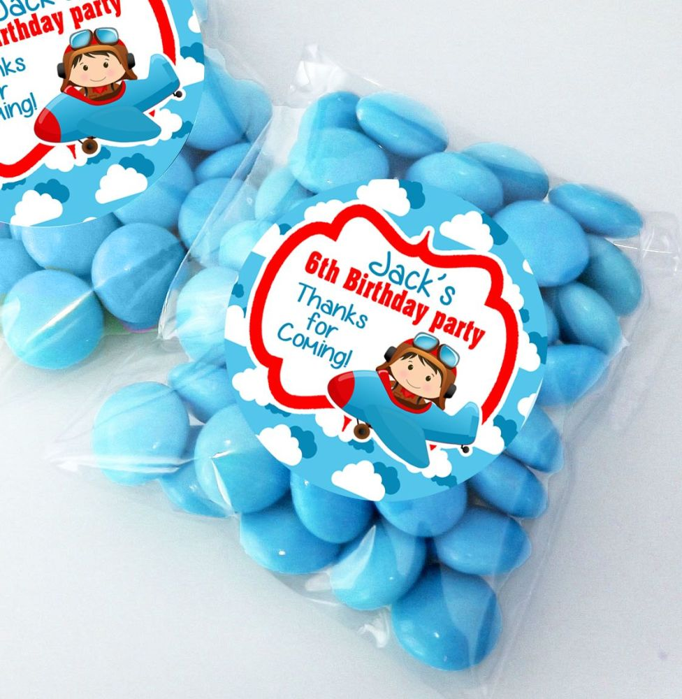 Personalised Birthday Party Sweet Bags Party Bag Fillers x12