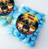 Superheroes Personalised Birthday Party Sweet Bags Party Bag Fillers x12