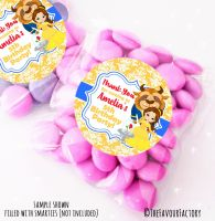 Beauty & The Beast Personalised Birthday Party Sweet Bags Party Bag Fillers x12