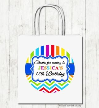 Birthday Brights Personalised Children's Birthday Paper Party Bags x1