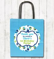 Boats Personalised Children's Birthday Paper Party Bags x1