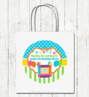 Bouncy Castle Personalised Children's Birthday Paper Party Bags x1