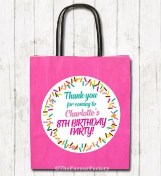 Sprinkles Personalised Children's Birthday Paper Party Bags x1
