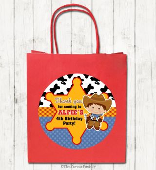 Woody Cowboy Personalised Children's Birthday Paper Party Bags x1