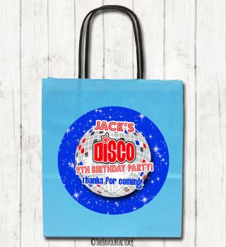 Boys Disco Personalised Children's Birthday Paper Party Bags x1