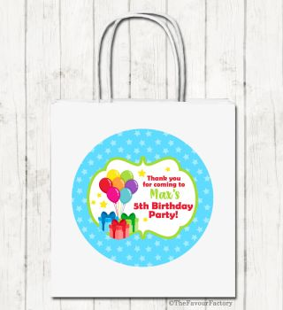 Bunch of Balloons Personalised Children's Birthday Paper Party Bags x1
