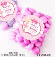 Blonde Ballerina Personalised Birthday Party Sweet Bags Party Bag Fillers x12