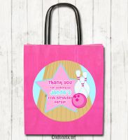 Girls Bowling Personalised Children's Birthday Paper Party Bags x1