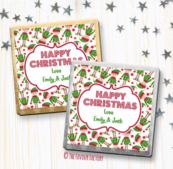 Christmas Chocolates Favours Personalised Elves