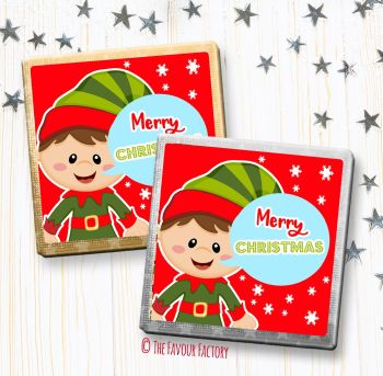 Christmas Chocolates Favours Personalised Elf Speech Bubble