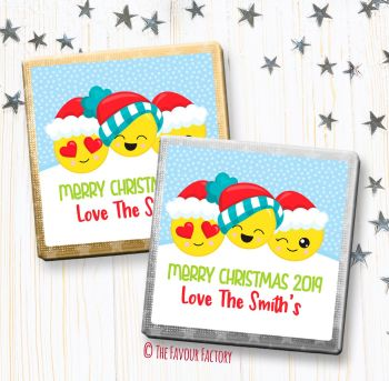 Christmas Chocolates Favours Personalised Emoji Faces