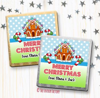 Christmas Chocolates Favours Personalised Gingerbread House