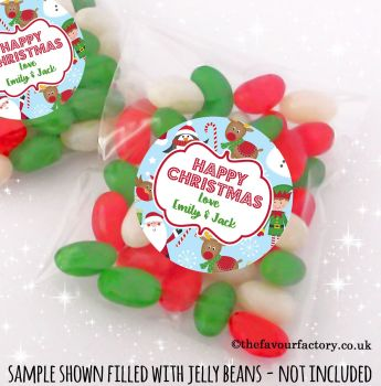 Christmas Table Favours Sweet Bags Kits Santa's Friends x 12